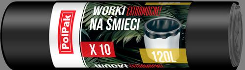 Worki LDPE 120L, 10 szt. (0739)
